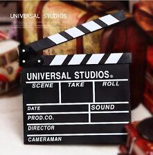 New Professional MOVIE DIRECTOR CLAP BOARD Film Slate Cut Prop Clapper Clapboard