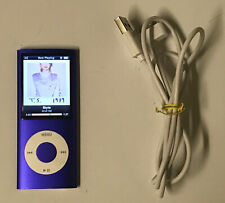 Apple iPod Nano 4th Generation Bundle Purple 8 GB A1285 Gen 4 MP3 Player