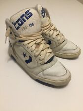 Vintage Converse Cons ERX 150 Basketball Zack Morris Sneakers 8.5 Blue White 80s