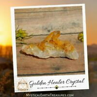 Golden Healer Quartz Natural Crystal With Vibrant Golden Glow and Healing Energy