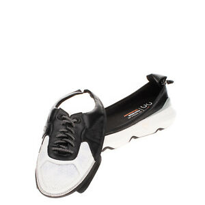RRP €160 ACBC Leather Sneakers EU 44 UK 9 US 10 Zip Detachable Upper Thick Sole