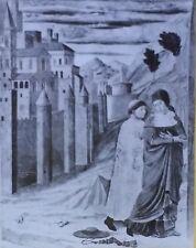 St. Jerome Converts a Roman Matron, Benozzo Gozzoli, Magic Lantern Glass Slide