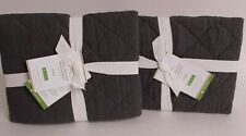 set/2 NWT Pottery Barn Belgian Flax Linen Diamond standard shams, ebony