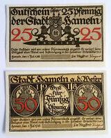 Notgeld Stadt Hameln an der Weser 25 Pfennig, 50 Pfennig 1918 o.KN o.Drfa.(7246)