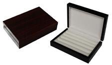 High Gloss Wooden Cufflink Display Box Ring Tie Clip Storage Case Organizer CY