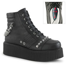 Black Platform Creepers Sneakers Boots 90s Punk Emo High Tops Mens Shoes 9 10 11