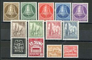 Berlin: Jahrgang 1953 kpl. postfrisch. Mi: 235,-