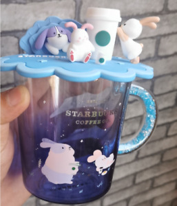 2020 Limited Edition Starbucks 355ml Moon Rabbit Tasting Coffee Glass Cup Lid