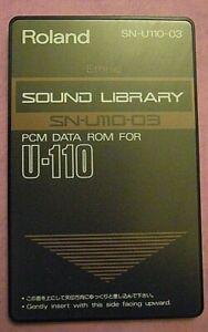 Roland U-110 Soundcard SN-U110-03 Ethnic with sound chart