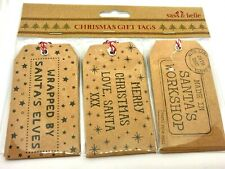 Sass & Belle Brown Santas Workshop Christmas Gift Tags - 15 Pack