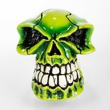 SHIFT KNOB GEAR SHIFT GREEN SKULL B&M QUICKSILVER SHIFTER HAND CRAFTED ORNAMENT