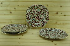 Lord Nelson Ware ROYAL BROCADE (6) Square Luncheon Plates | Chintz | England