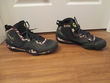 Used Worn Size 15 Nike Air Penny V Basketball Shoes Camo Black Spruce Volt