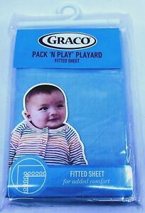 """Graco Pack N Play Playard Fitted Sheet LIGHT BLUE Baby 39"""" X 27"""" NEW"""