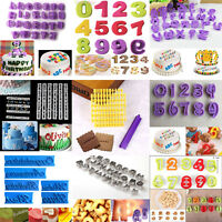 Alphabet Letter Number Fondant Cutter Mould Cake Cookie Decorating Baking Mold