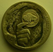 """5 cents 1927 """"hand with a coin"""" engraving"""
