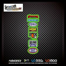 Metzeler NGK Fox Rear Fender Green Decal Sticker MX (542)