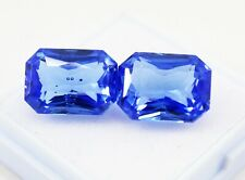 17.00Ct Natural Blue Sapphire Pair Emerald Cut Ggl Certifiy September Birth Ston