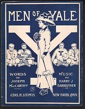 Men of Yale 1909 Large Format Sheet Music