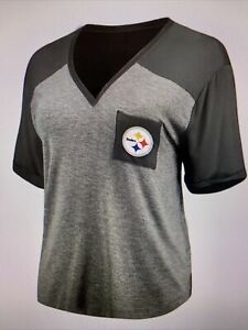 Pittsburgh Steelers NFL Women's Short Sleeve Pocket Tee Shirt Size Small ~ NWT