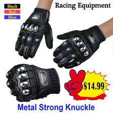 Alloy Steel Motorcycle Motorbike Power Sports Racing Gloves Metal Strong Knuckle