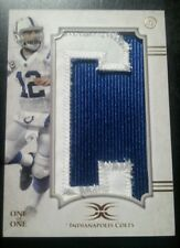 2015 Topps Definitive ANDREW LUCK COLTS letter C for Colts 1/1 letter patch
