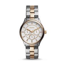Fossil Damenuhr Armbanduhr BQ1564 Chronograph silber gold
