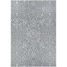 "Couristan Palmette Grey-Ivory In-Out Rug, 5'10"" x 9'2"" - 23294716510092T"