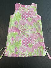 Lilly Pulitzer Girls Dress Size 6X Pink Green Lemons Elephants Flowers