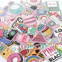 60Pcs Cute Pink Stickers Bomb Waterproof Skateboard Luggage Laptop Vinyl Decals