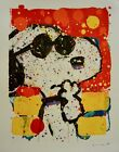 """Tom Everhart """"COOL and INTELLIGENT """" S/N """"PEANUTS"""" """"SNOOPY"""" Lithograph with COA"""
