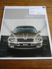 SKODA OCTAVIA SPECIFICATIONS & PRICE LIST BROCHURE OCT. 2004