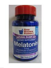 GNP Maximum Strength Melatonin Sleep Aid Supplement 5mg  100 tabs