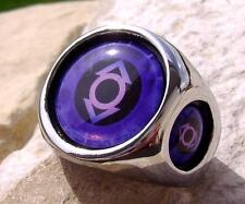LANTERN CORPS INDIGO COMMPASSION RING STEEL RED BLUE SILVER DC COMICS GREEN N48