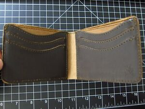 Saddleback Leather OLD STYLE MEDIUM BIFOLD WALLET Dark Coffee Brown