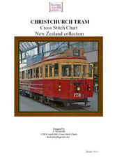 CHRISTCHURCH TRAM - Cross Stitch Chart