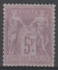 "FRANCE STAMP TIMBRE 95 "" SAGE 5F VIOLET SUR LILAS 1877 "" NEUF xx TTB SIGNE  M431"