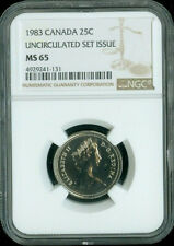 1983 CANADA 25 CENTS NGC MS65  ***
