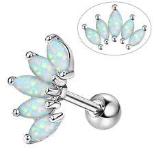 Opal Cartilage Earring 16G CZ Helix Piercings Stud Tragus Conch Ear Lobe Jewelry