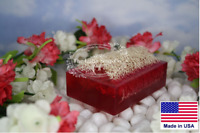 Luffa Soap 3 Piece Sweet Pea Exfoliating Soap Made With Natural Loofah Sponge