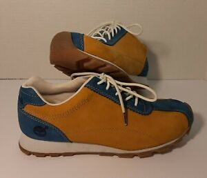 Timberland sneakers * size 6M-7.5W * Genuine Leather * man-made * beige/Blue