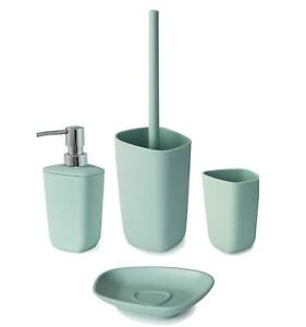 Neo Mint Green Soap Dispenser Soap Dish Toilet Brush Tumbler Bathroom Set