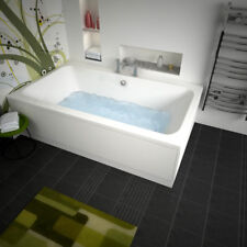 Vernwy 1800mm Double Ended Straight XXL Bath 1100mm with-out Front Panel and Tap