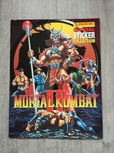 Mortal Kombat 2 (1993) Empty Panini Sticker Album, BRAND NEW, NEAR MINT, RARE II
