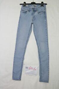 Levi's 711 SKINNY STRETCH usato (Cod.W601) W27 L30 denim jeans donna vita alta