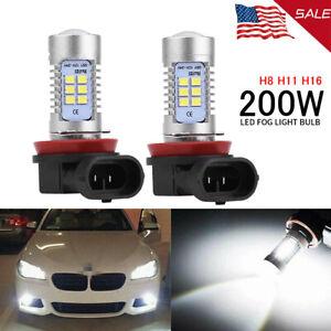 2X 42 LED Fog Lights Bulb H8 H11 H16 Fog Lights Bulb White High Power 200W Lamps
