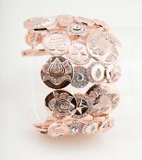 ROCO by Rodrigo Otazu Pink Gold Tone Coin Bracelet Cuff
