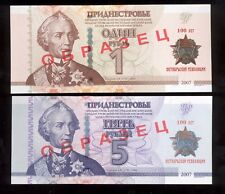 Transnistria 2017 Specimen 1 & 5 rub 100th Anniversary of the October Revolution
