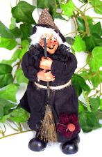 Trendy HEXE stehend mit Besen 18 cm HERBST DEKO Halloween Händler Posten 5887