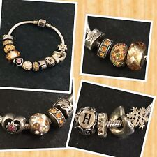 """Chamilla Cham Camilla Sterling Charm Bracelet With 12Charms 49 Grams 7.25"""""""
